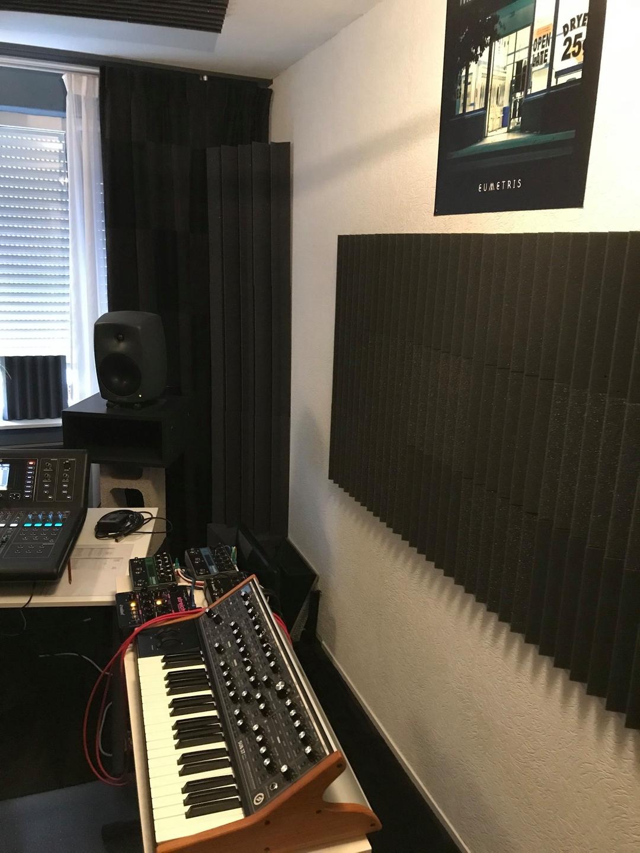 Studio Spijkenisse met akoestisch schuim