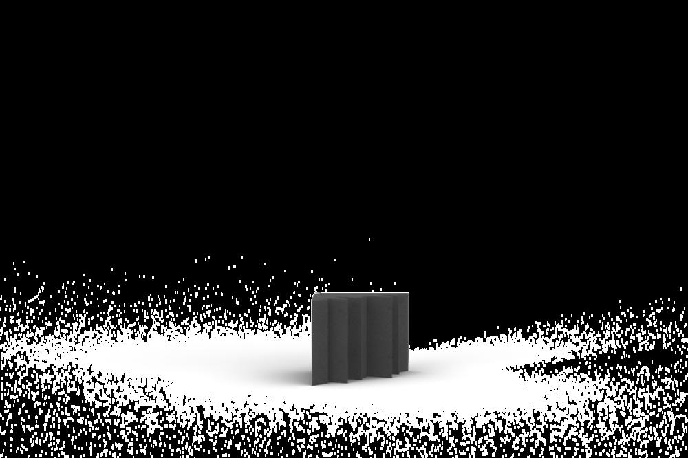 Bass Trap 30x25 (30cm zijde, 25cm lengte)