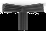 Bass Trap 30x90 (30cm zijde, 90cm lengte)_